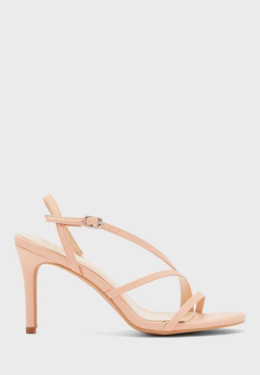 Skinny Strap Stiletto Heel Sandal