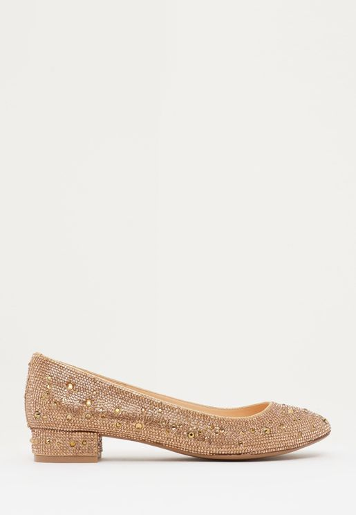 Logan Embellished Block Heel Pump