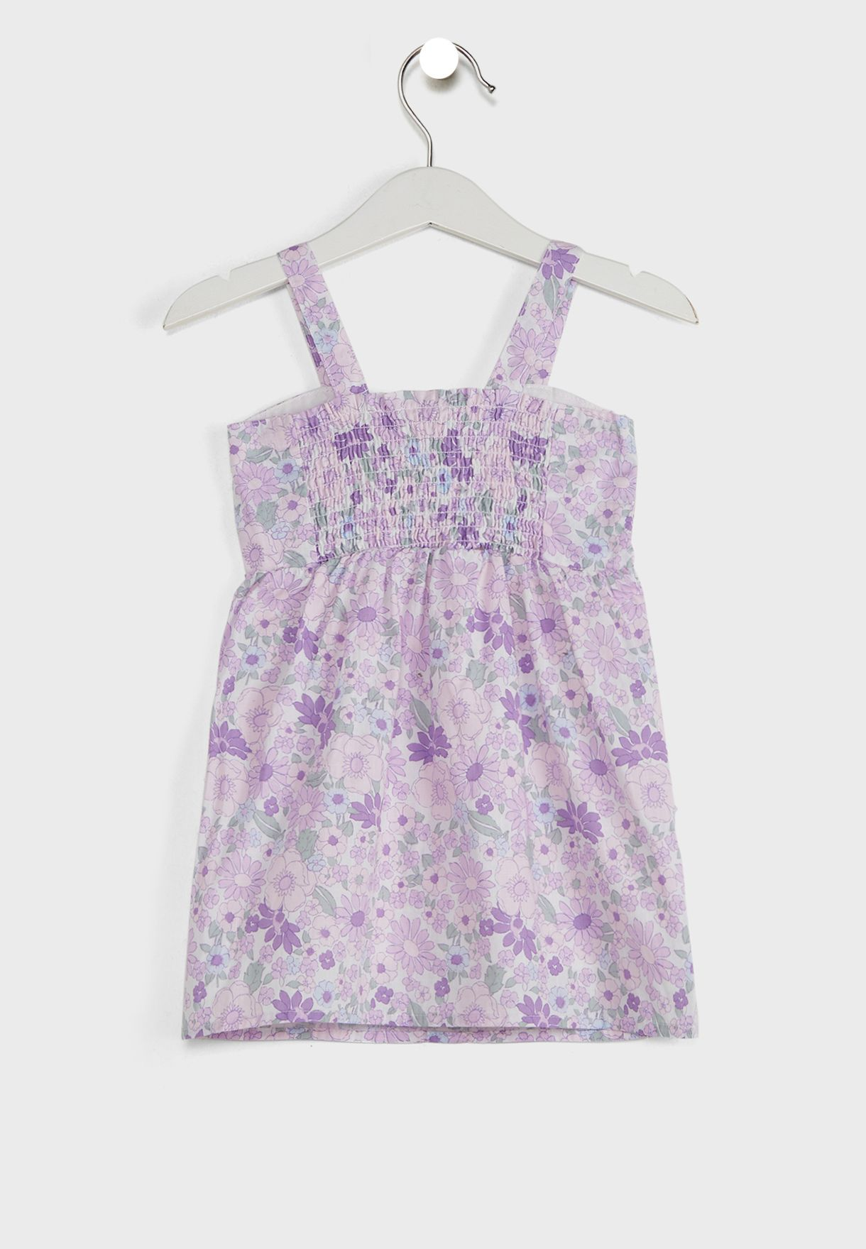 Kids Retro Blooms Print Dress