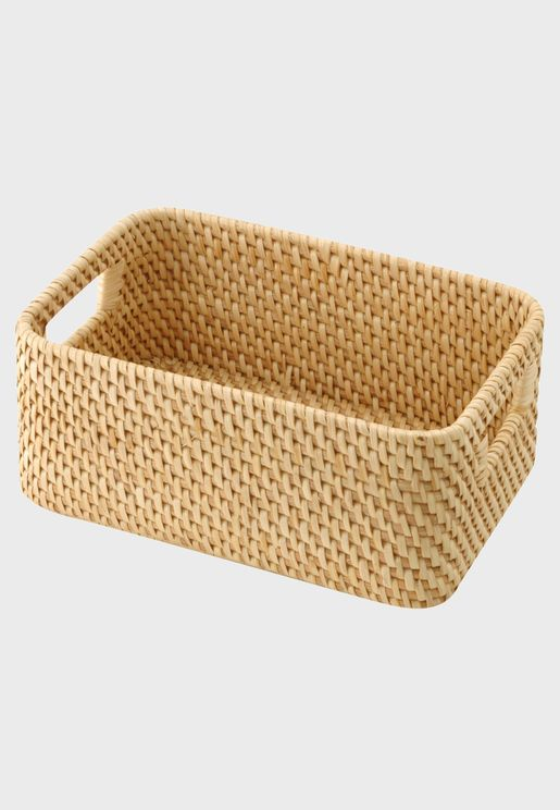 Rattan Box With Handle