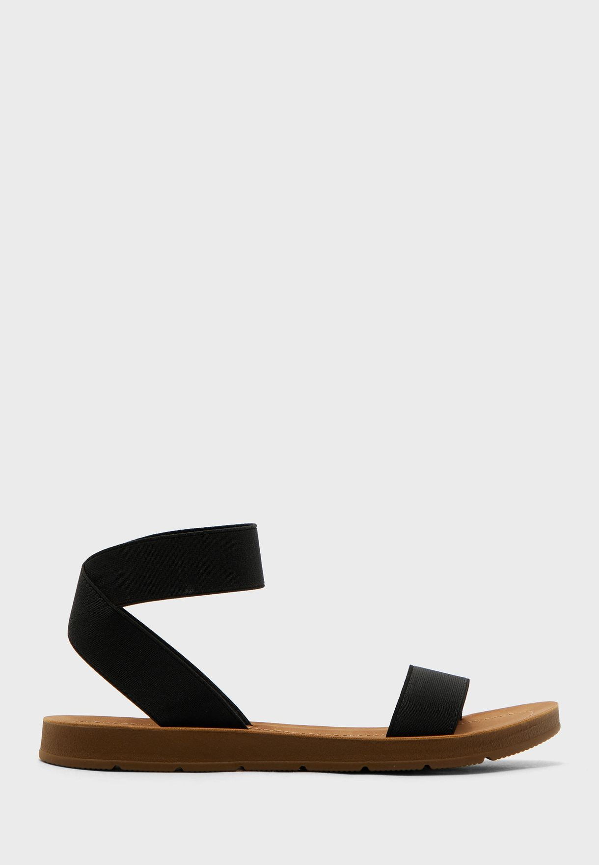 Izzy Ankle Strap Flat Sandal