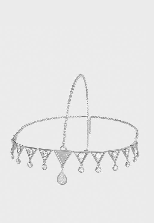 Triangle Drop Stone Tiara Headchain