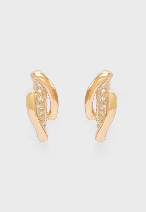 Two Tone Strand Earrings