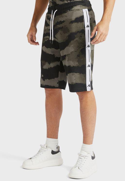 Logo Tape Camo Shorts