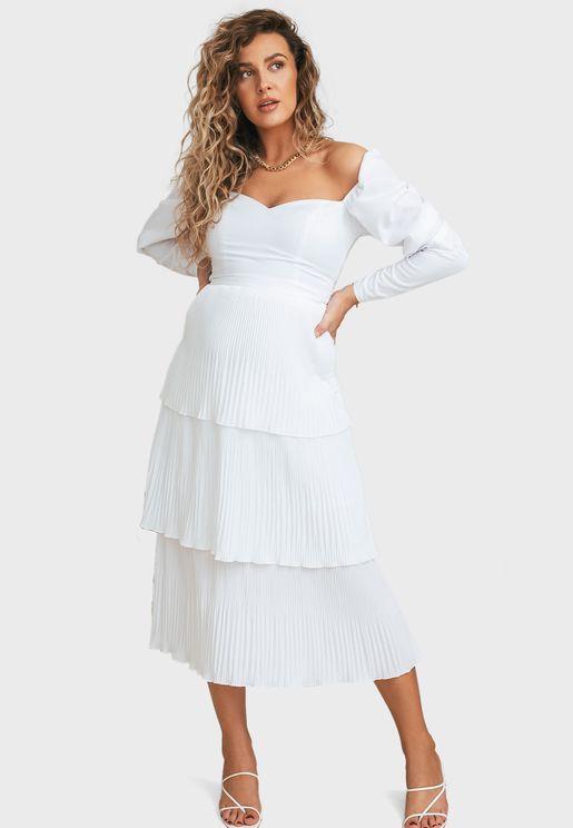 Layered Plisse Skirt