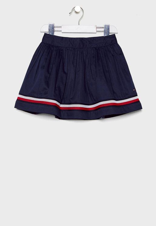 Little Stripe Detail Skirt