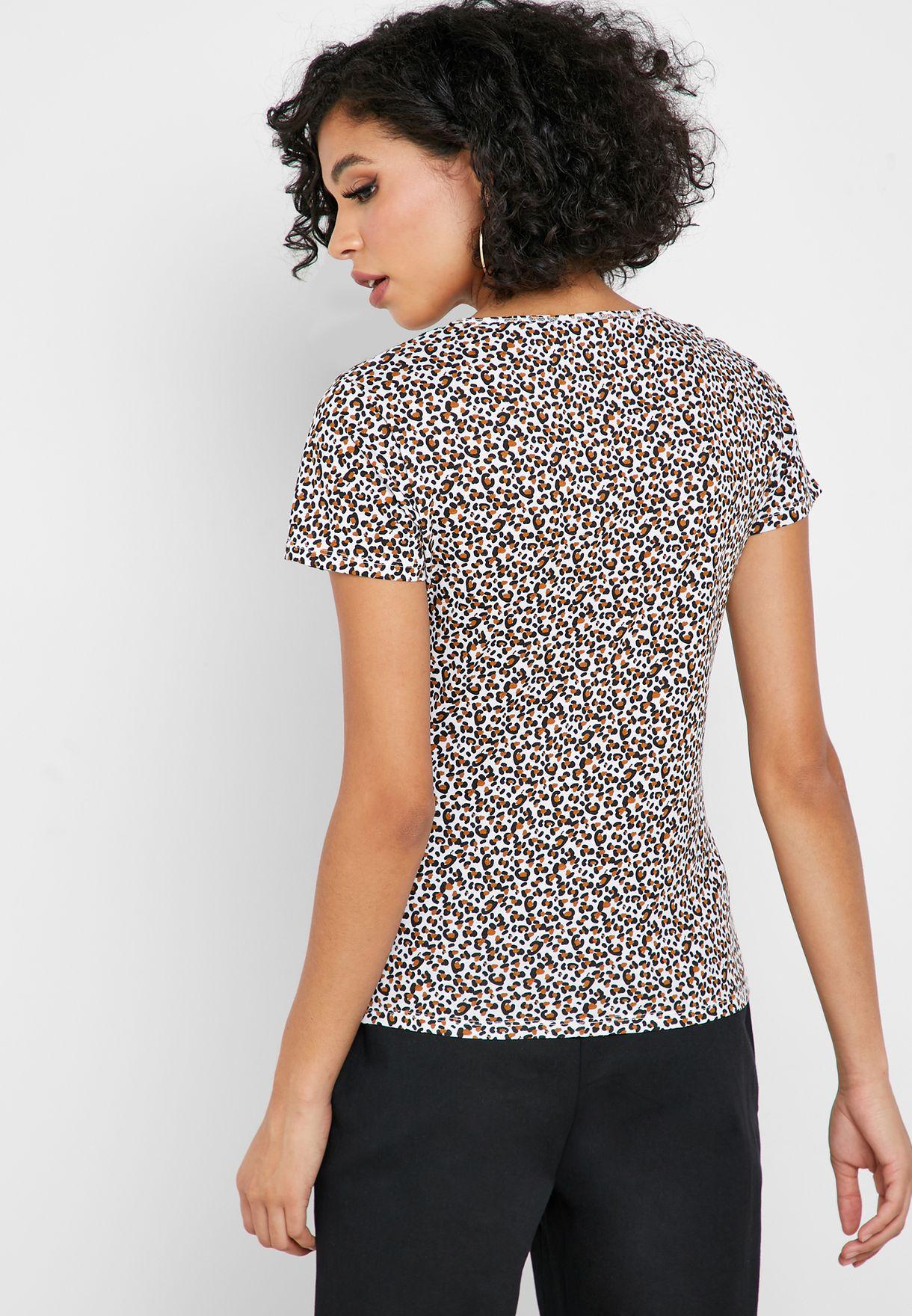 Logo Animal Print T-Shirt