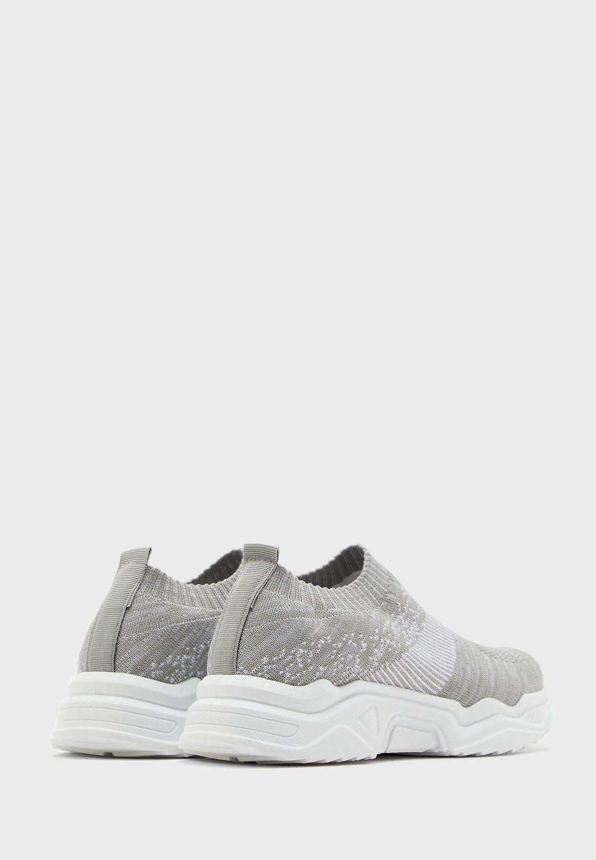 Marl Knit Slip On Sneakers