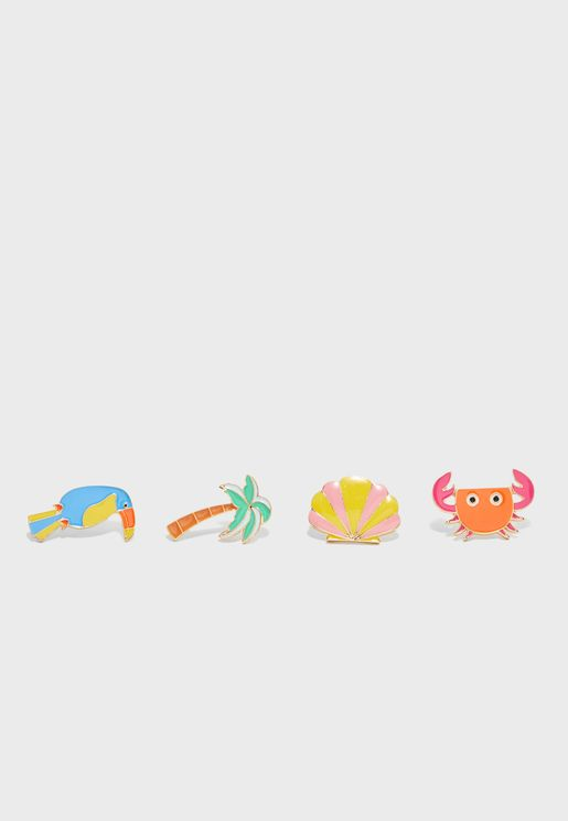 Kids 4 Pack Pin On Brooches
