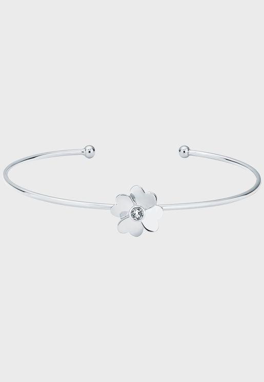 Hazarii Heart Flower Ultra Fine Bracelet