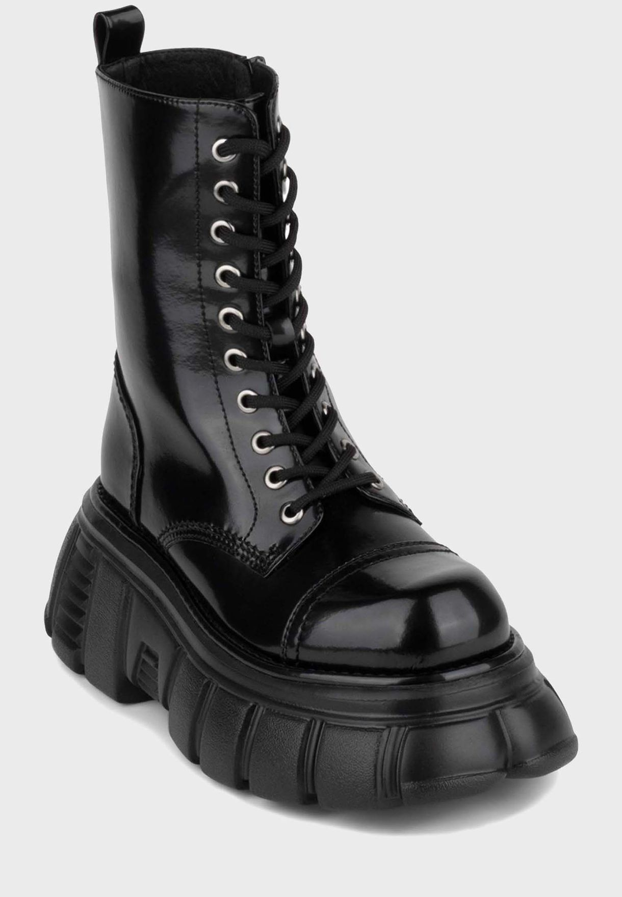 Jeffrey Campbell black Stomp Ankle Boot