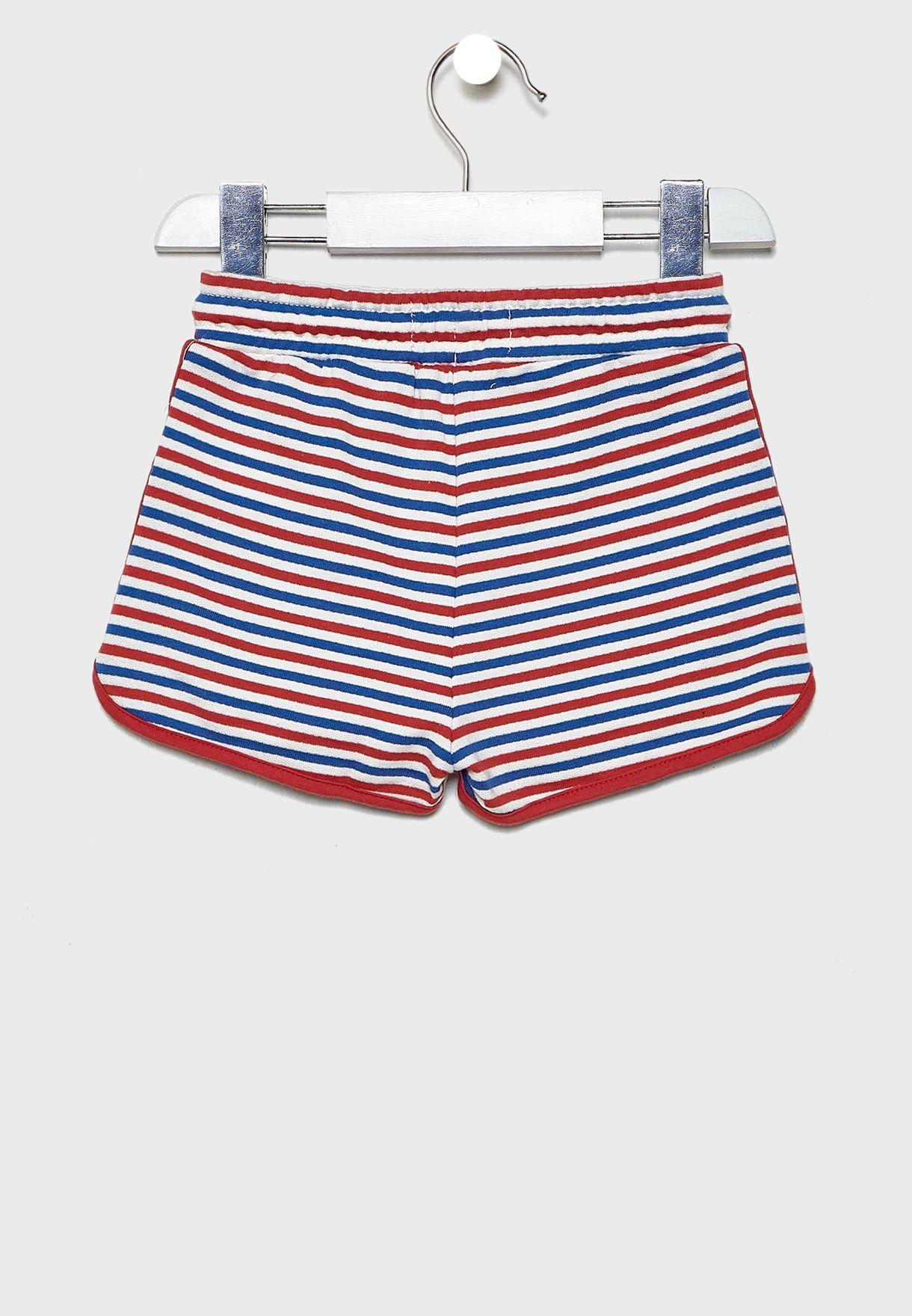 Kids Striped Shorts