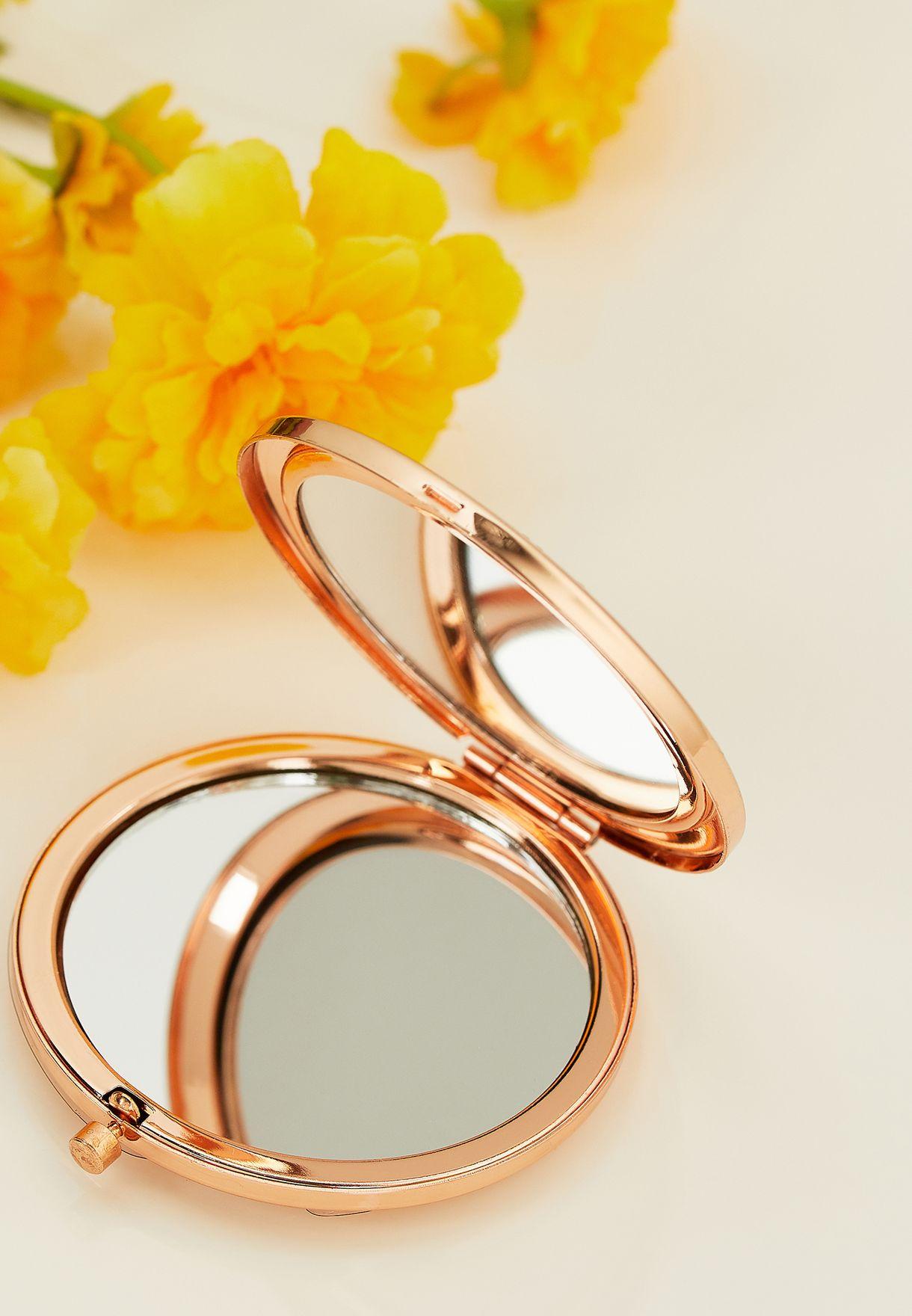 Rhinestone Compact Mirror
