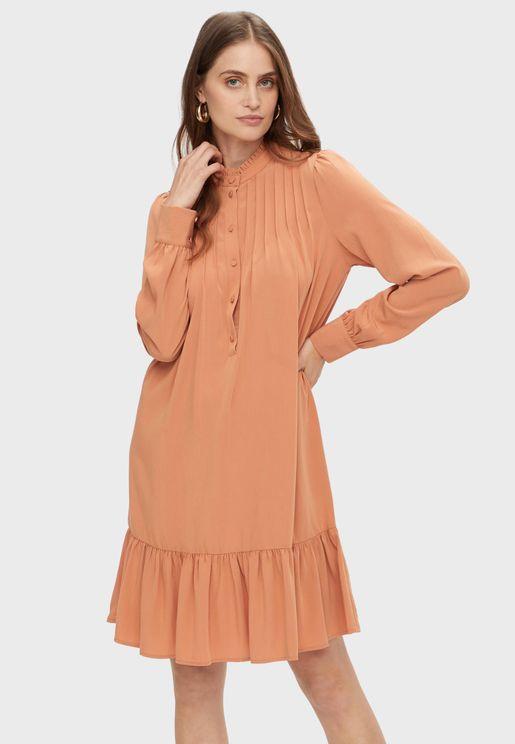 Placket Pephem Dress