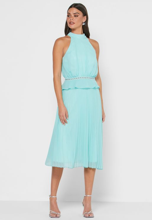 Isabel Halter Neck Shift Dress
