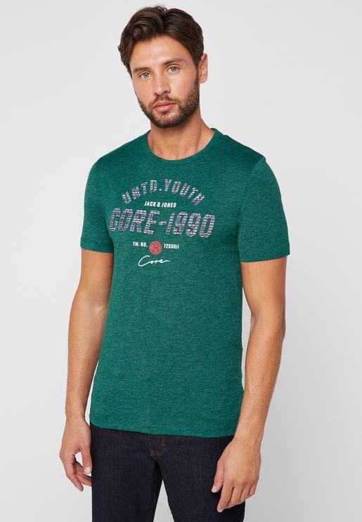 f15de9069fcc Jam Social Industries Print T-Shirt. Jack   Jones
