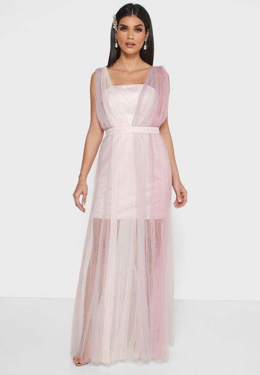 Mesh Belted Dress
