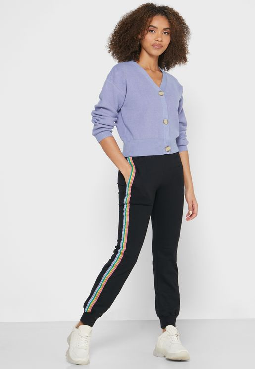 Contrast Side Tape Joggers