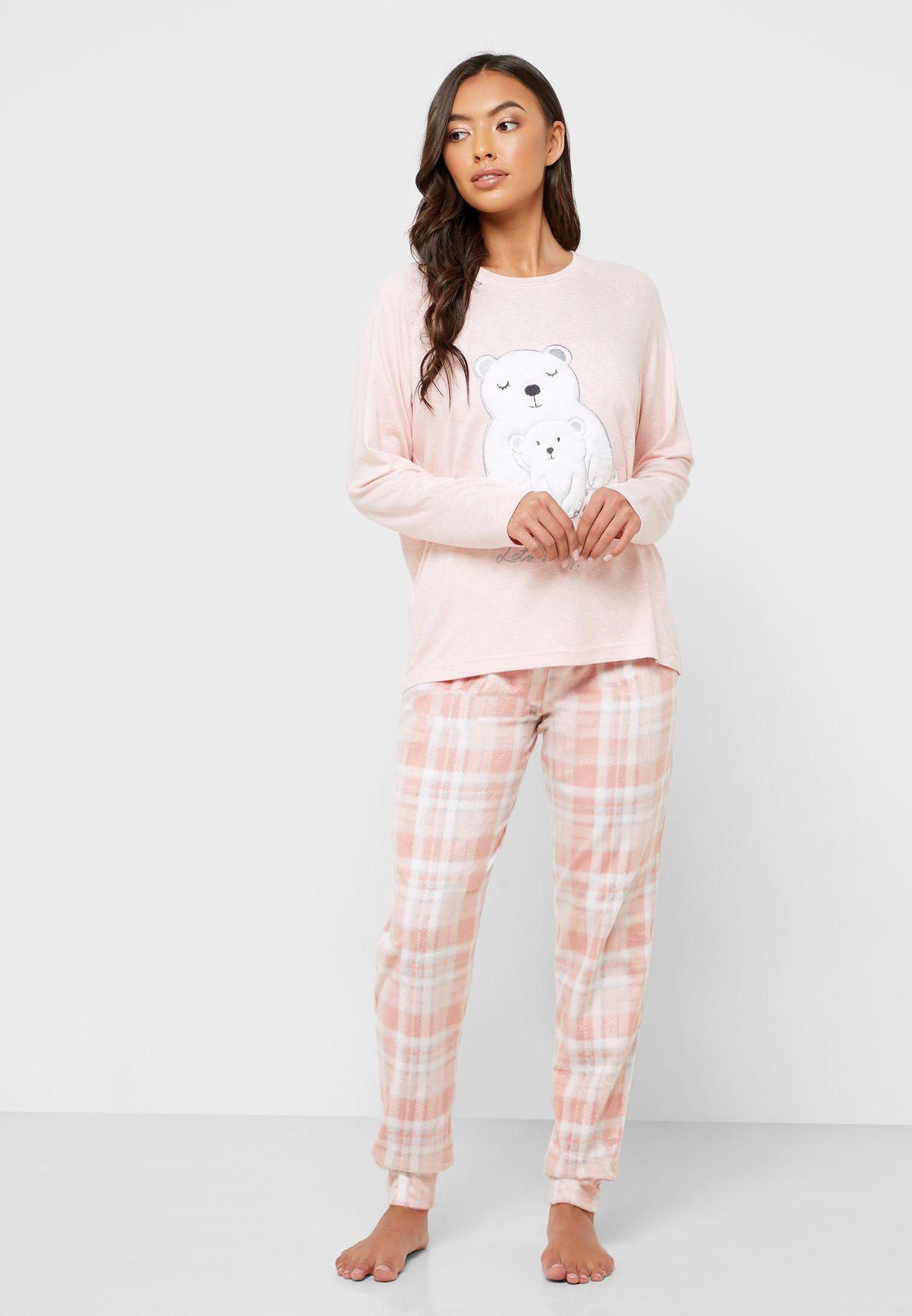 Polar Beer Print T-Shirt & Pyjama Set
