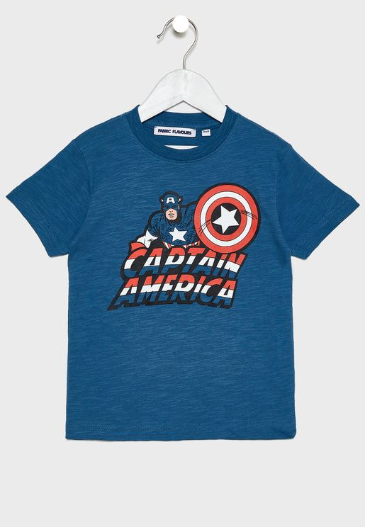 Kids Captain America T-Shirt