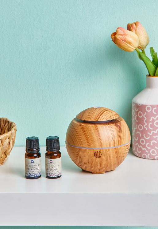 2 Essential Oils With Mini Ultrasonic Diffuser