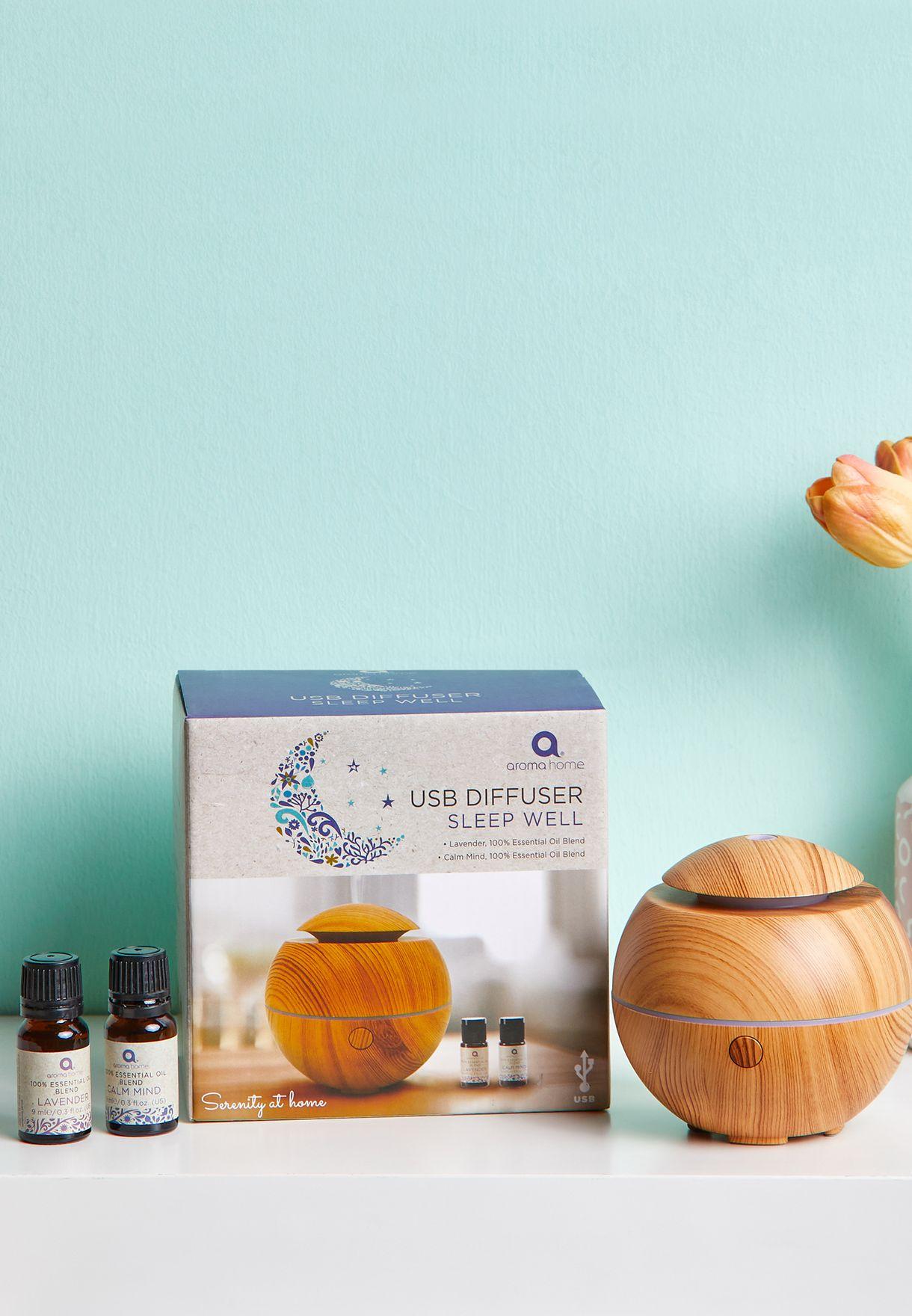 2 Essential Oils With Mini Ultrasonic Diffuser