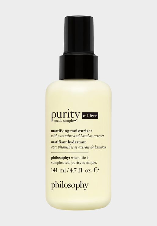Purity Made Simple Oil Free Mattifying Moisturizer With Vitamins And Bamboo Extract, 50Ml