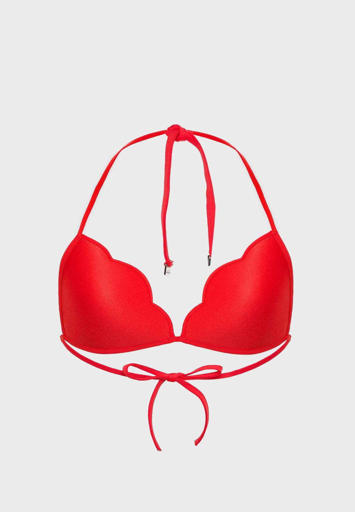 Scallop Bikini Top