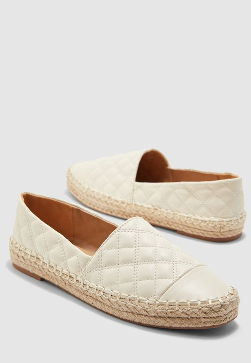 Espadrilles In Quilted Design