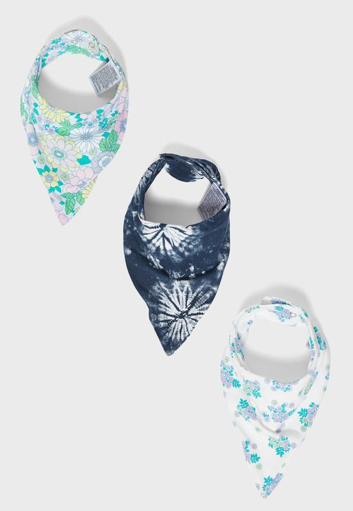 Kids 3 Pack Bandana Bibs