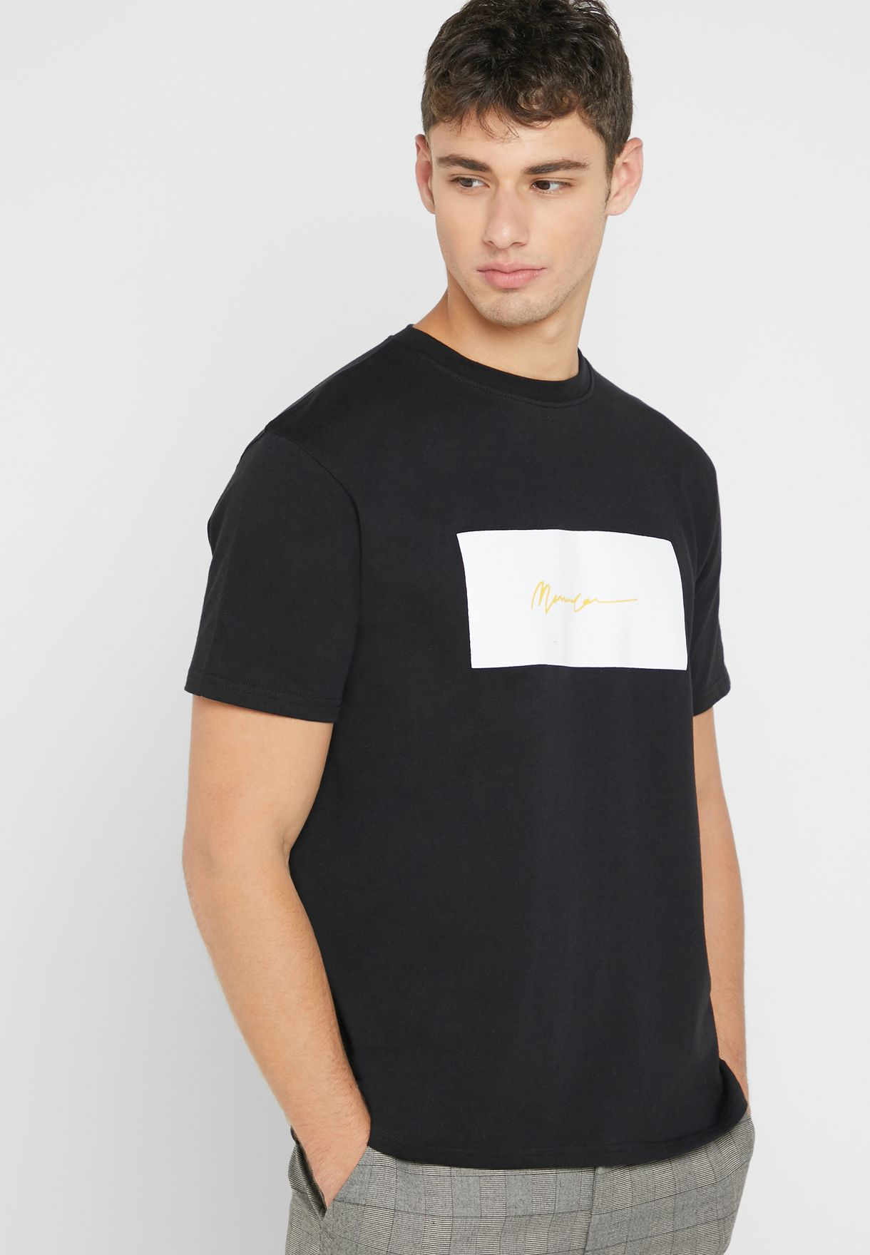 Box Logo Signature Crew Neck T-Shirt