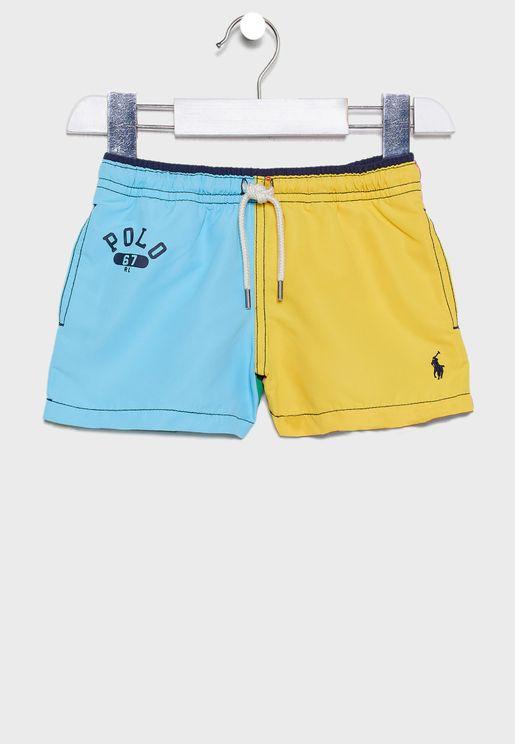 Kids Color Block Shorts