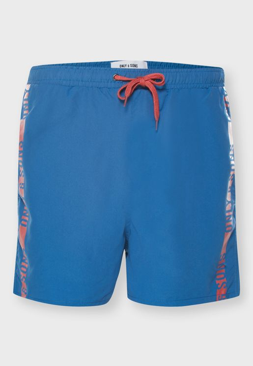 Side Taped Swim Shorts