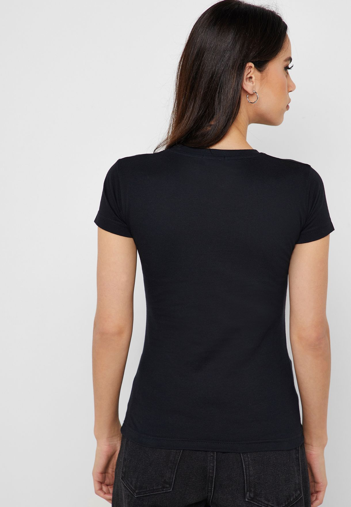 Embroidered Face T-Shirt