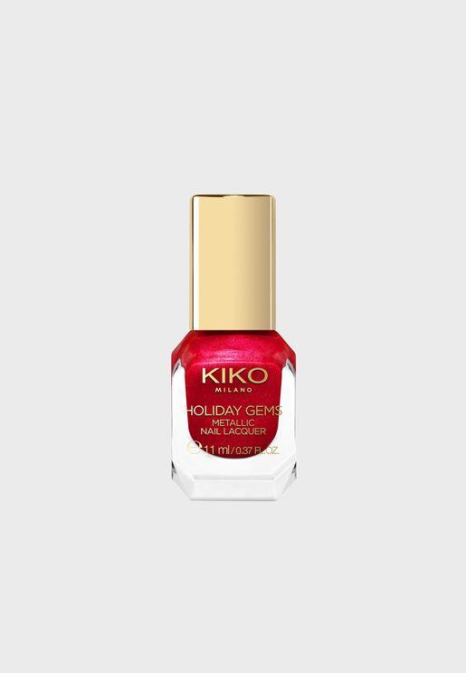 Metallic Nail Lacquer - Ravishing Ruby