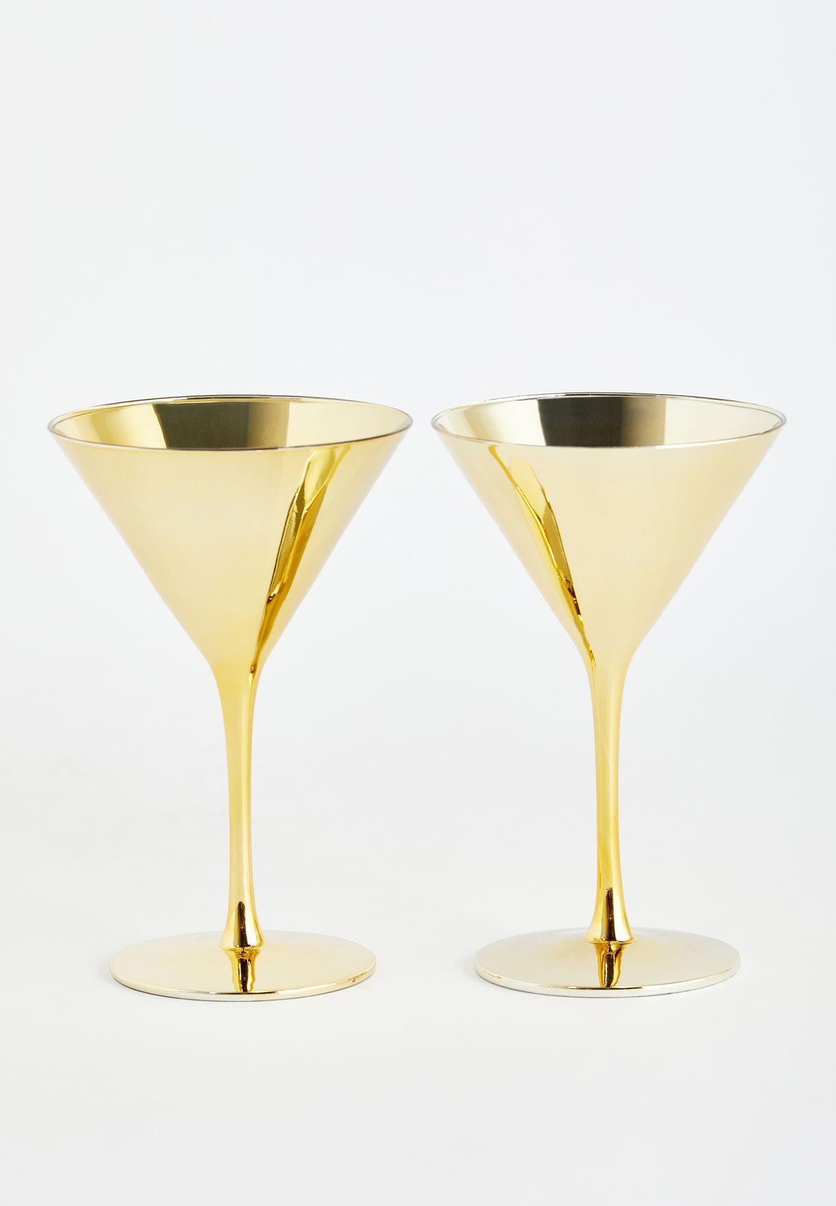 Set of 2 Gold Glasses
