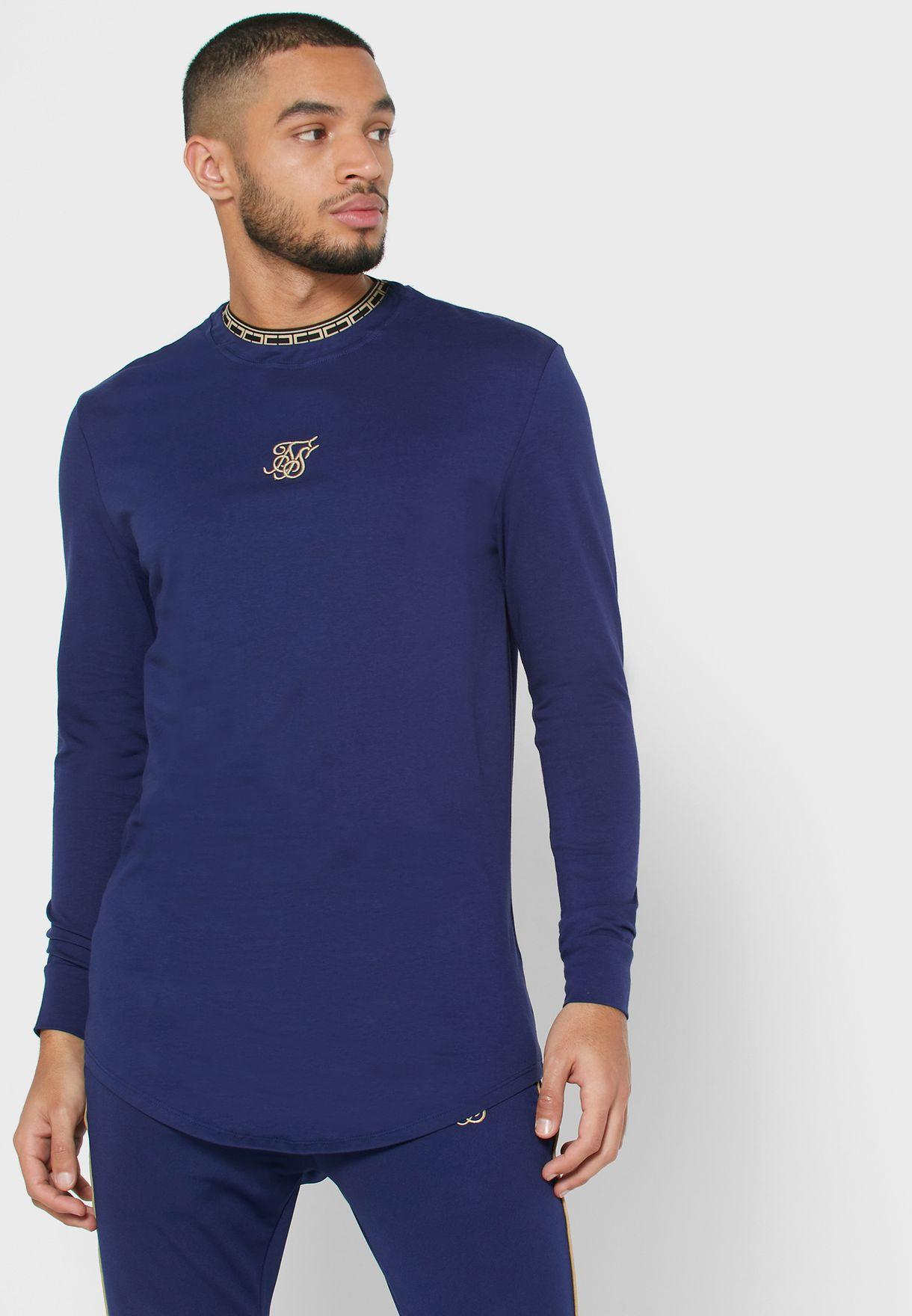 Taped Collar Gym T-Shirt