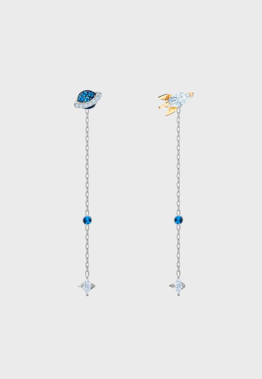 Oot World Asymmetric Space Pierced Earrings