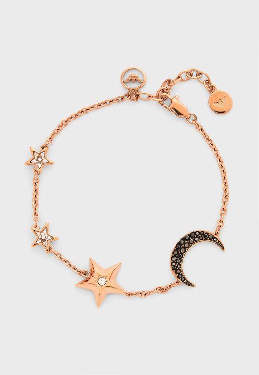 Star & Moon Link Bracelet