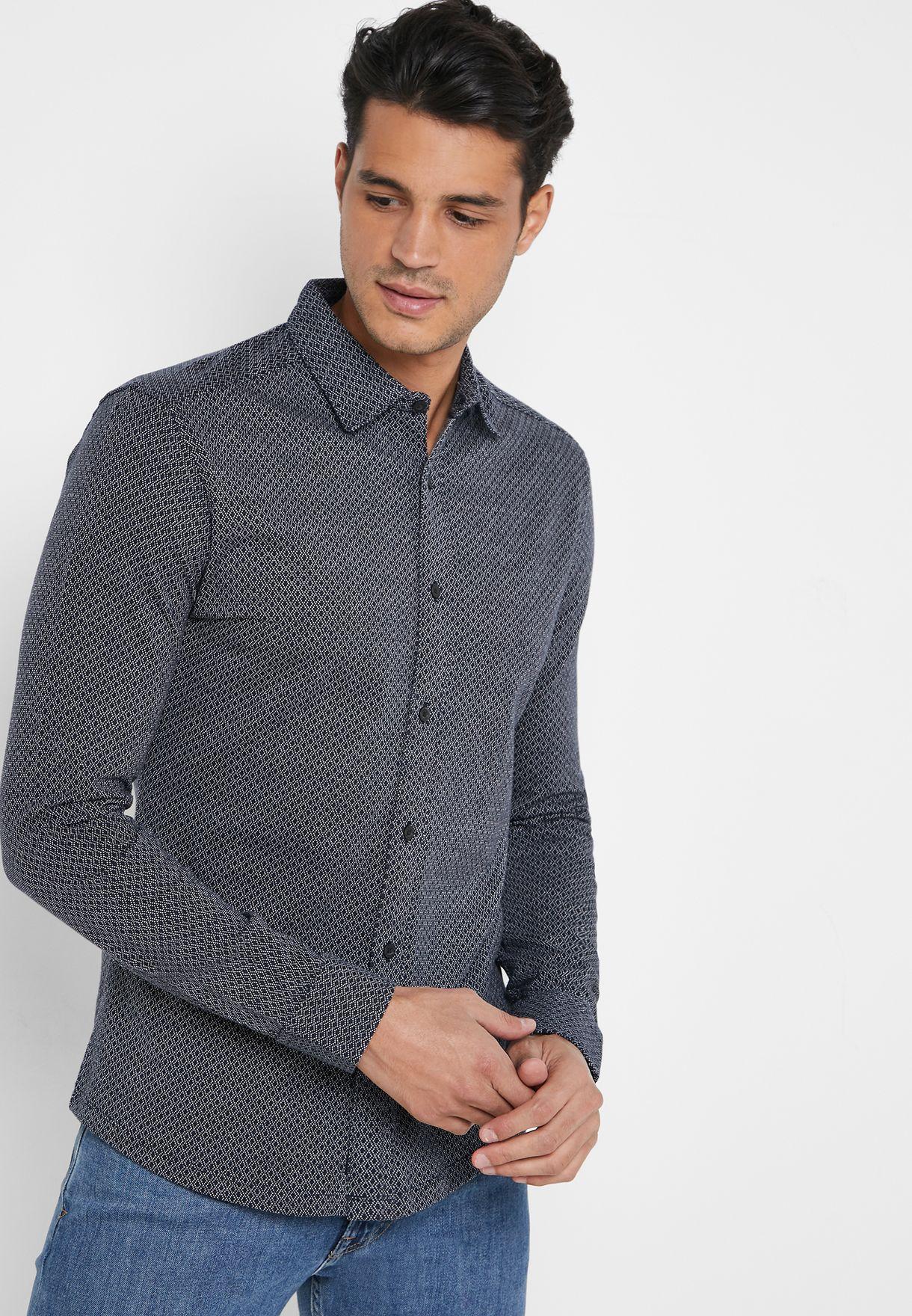 Esben Jacquard Knitted Shirt