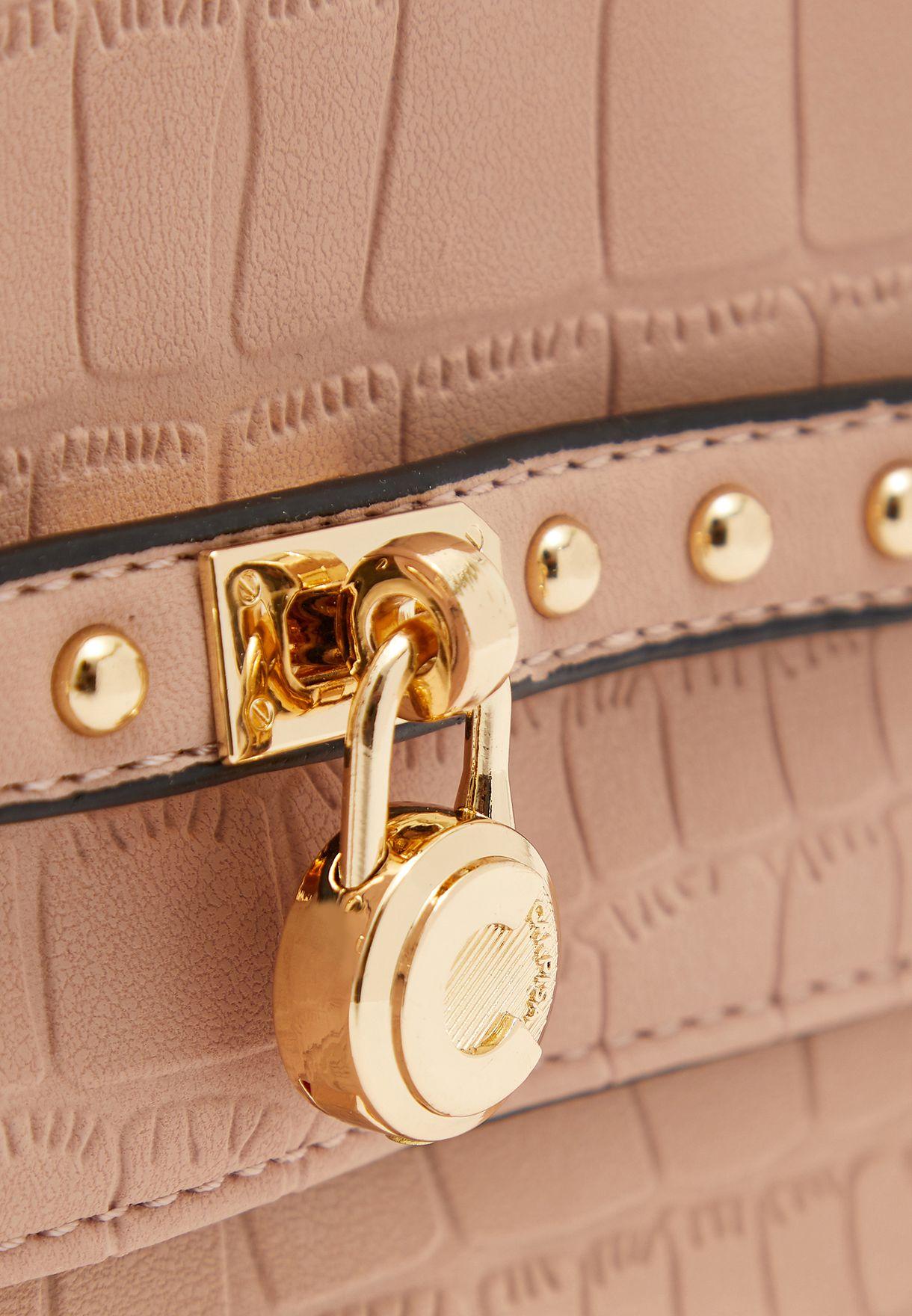 Zip Through Chain Detail Crossbody