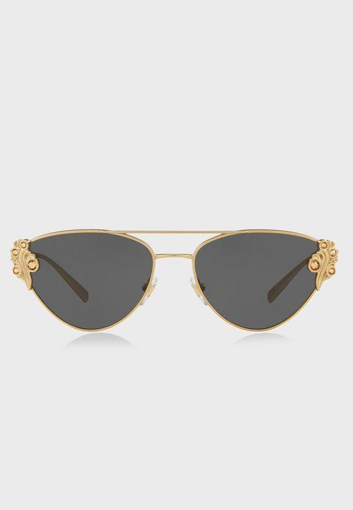 Shield Cats Eye Sunglasses