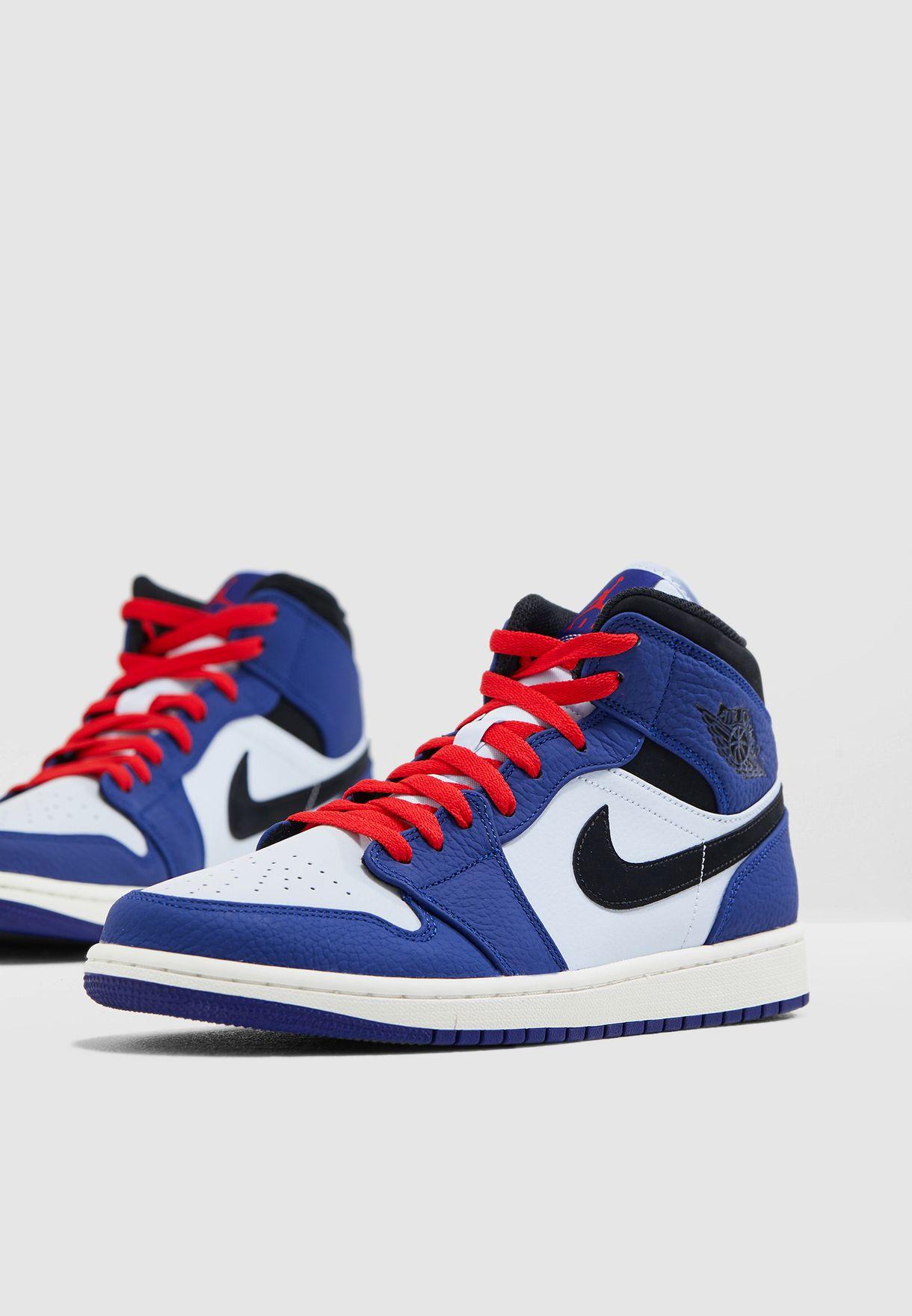 a7bcb035865 Shop Nike blue Air Jordan 1 Mid SE 852542-400 for Men in UAE ...