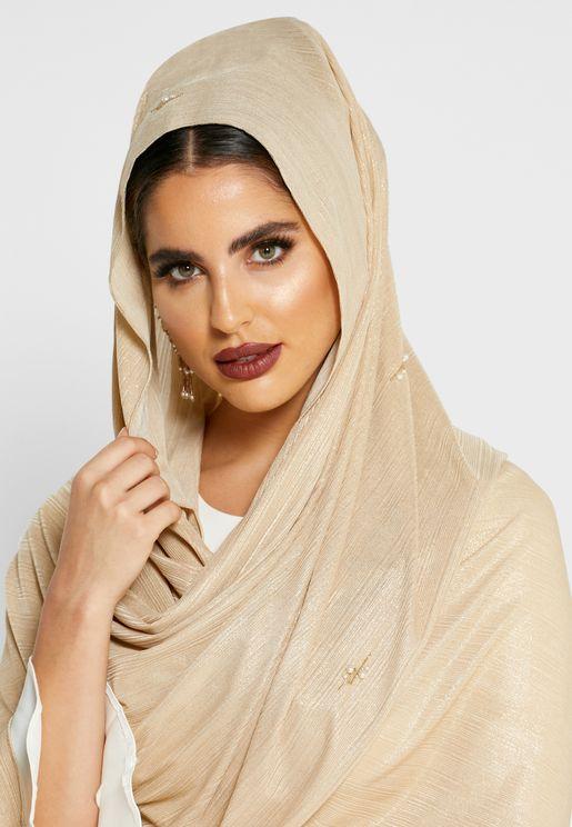 حجاب كلاسيكي براق