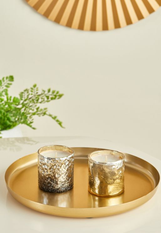 Gold Candle Plate