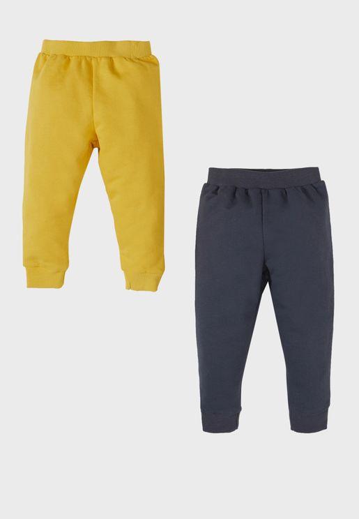 Infant 2 Pack Cuffed Sweatpants