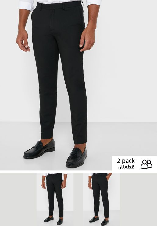 2 Pack Skinny Trousers