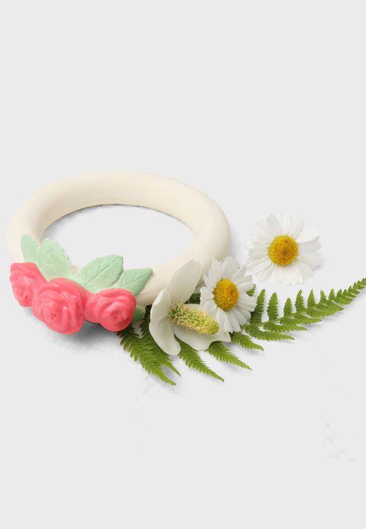 Rose Bud Teething Ring