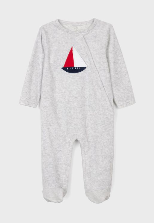 Infant Boat Print Onesie