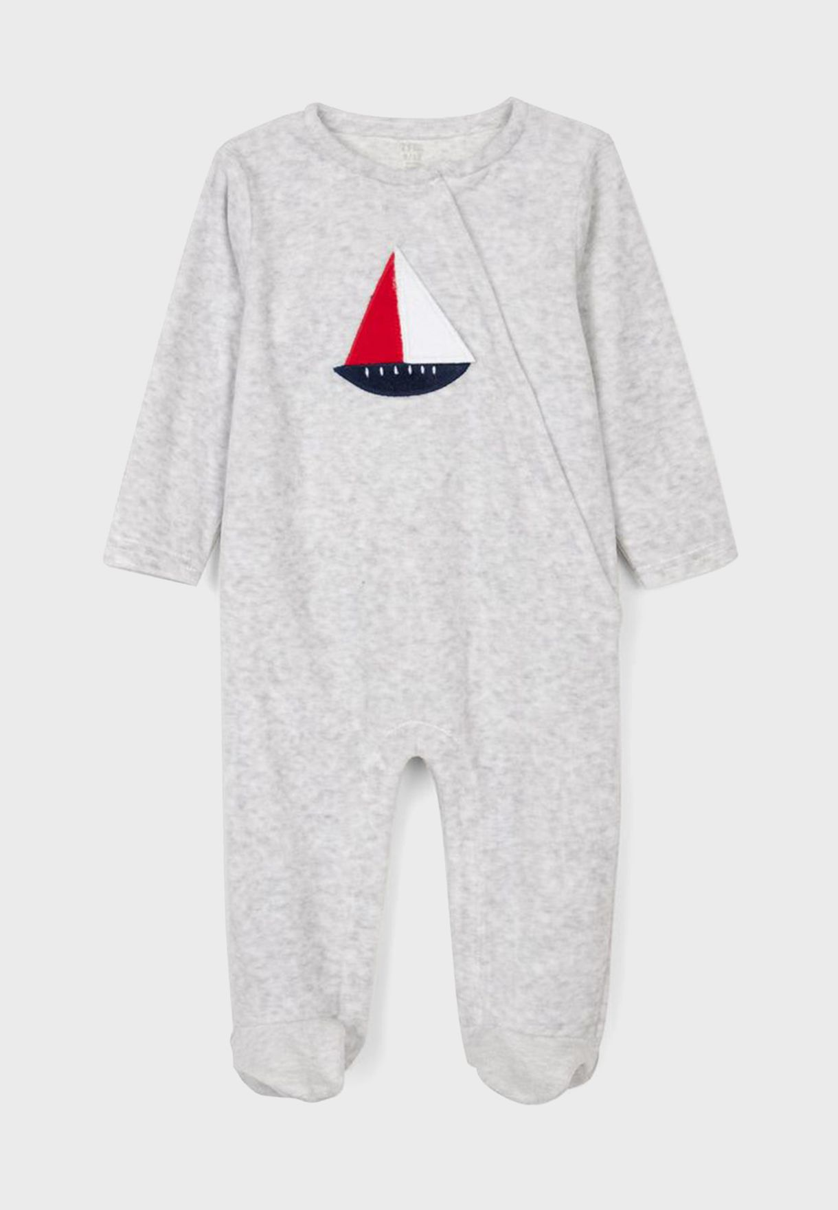 Infant Boat Print Onesie